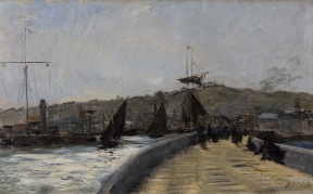 Karl Pierre Daubigny - French Coastal Port
