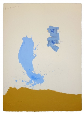 Robert  Motherwell - In Blue Ochre with Gauloises